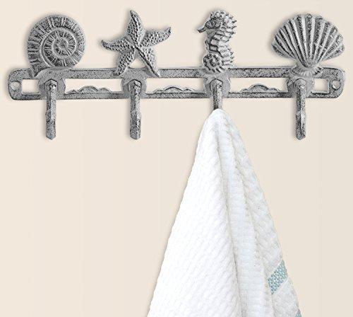 Comfify Vintage Seashell Coat Hook Hanger by Rustic Cast Iro