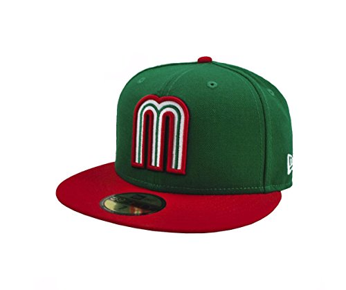 New Era Men 59fifty World Baseball Classic Mexico Hat Cap (7 1/4) - Mexico Hat Cap