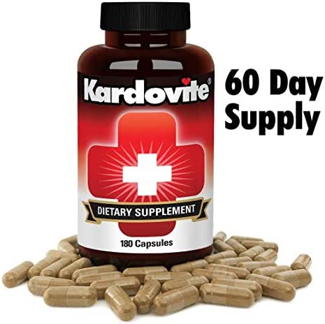 Supports Circulation & Healthy Cardiovascular Function. Supplement To Maintain Normal Blood Pressure, Clean Arteries & Strong Blood Vessels. Original Kardovite Capsules By Pharmacist Sam Ibrahim