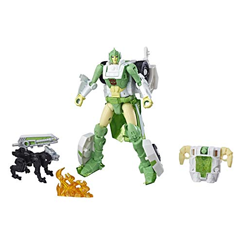 Transformers Generations War for Cybertron: Siege Deluxe Class Wfc-S15 Autobot Greenlight Action Figure with Dazzlestrike Battle Masters Figure ()