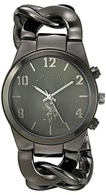 U.S. Polo Assn. Women's USC40175 Analog Display Analog Quartz Black Watch