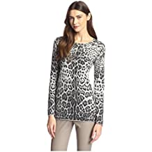 James & Erin Women's Cashmere Leopard Print Sweater