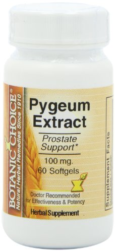 Botanic Choice Pygeum Extract Soft Gels,100 Mg, 60 Count, Health Care Stuffs