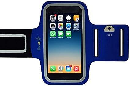 KHOMO® Armband Blue iPhone 6, 6S, 7, 8 Funda Azul Brazalete ...
