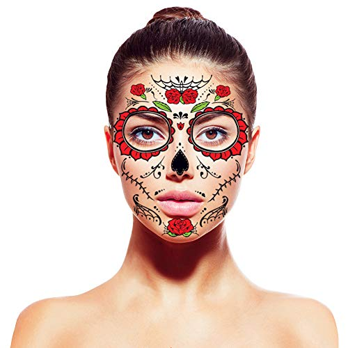 Halloween face stickers tattoo Day of the Dead