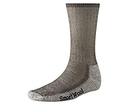 Smartwool Men\'s Hiking Medium Crew Sock (Large, Dark Brown)