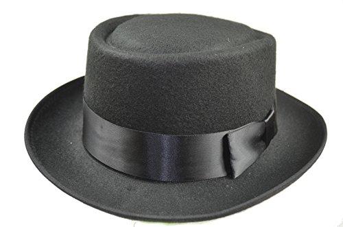 Gentleman Hat Walter White Cosplay Heisenberg Pork Pie Cap Flat top Hat (Walter White Pork Pie Hat compare prices)