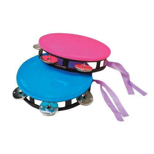 U.S. Toy MU409 Neon Tambourine, 5 1/2
