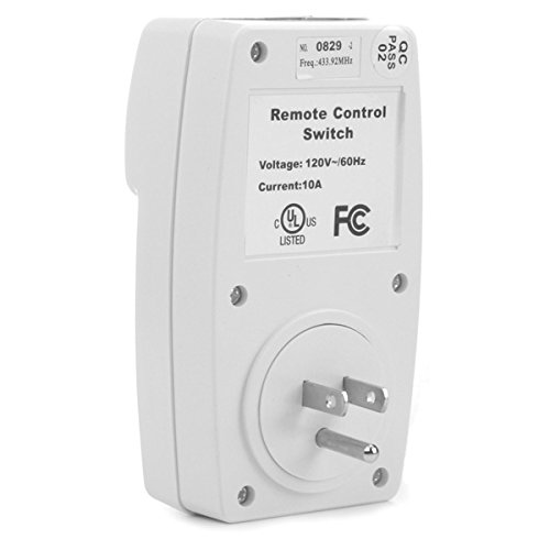OlogyMart Wireless Remote Control AC Electrical Power Outlet Switch Socket USA Plug White