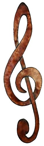 "Deco 79 Metal Wall Music Note W-97894, 31"" H/8"" W - Suitable to use as a decorative item Unique home decor This product is manufactured in China - living-room-decor, living-room, home-decor - 41pSmFwKO0L -"