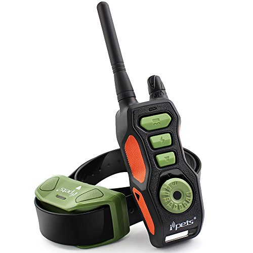 ipets-pet618-dog-shock-collar-2600ft-remote-controlled-collar-100-waterproof-rechargeable-dog-traini
