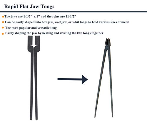 Rapid Tongs Bundle Set Five Type of Tong Bundles Set DIY Rapid Tongs Comes with Rivet for Beginner Futher Smithing