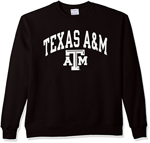 NCAA Texas A&M Aggies Men's Power Blend Fleece Crew Neck Sweatshirt, X-Large, Black