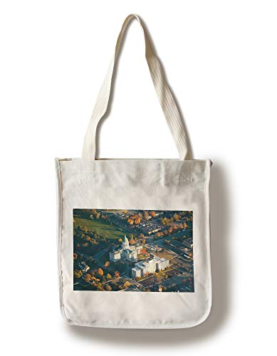 Lantern Press Augusta, Maine - Aerial View of State Capital Building - Photography A-92548 (100% Cotton Tote Bag - - Lantern Outdoor Augusta
