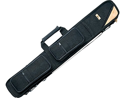 Shaft Soft Case - Action Textured Soft Cue Case (2-Butt and 4-Shaft), Black