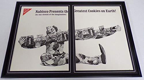1968 Nabisco Cookies/Circus Clown Framed 12x18 ORIGINAL Advertising Display