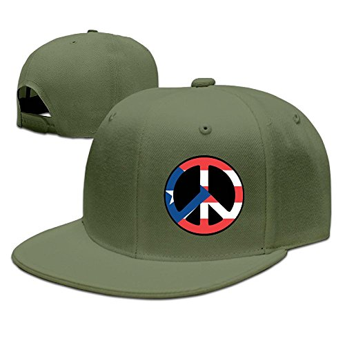 New Puerto Rico Unisex Adjustable Flat Brim Baseball Cap Hip Hop Hat