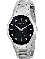 Bulova Mens 96D117 Diamond Dial Watch
