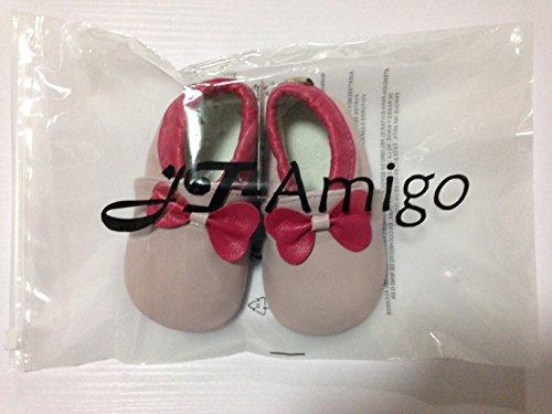 JT-Amigo Zapatillas de Cuero para Bebé, Escarabajo, 0-6 Meses Nudo Ojal