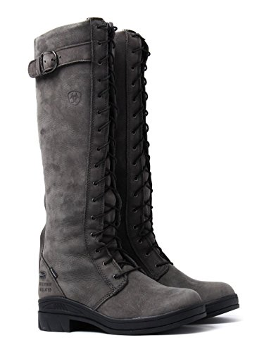 Ariat Womens Coniston H20 Insulated Leather Boots Charcoal