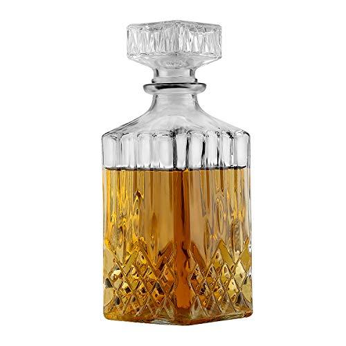 Liquor Decanter, Whiskey Decanters for Tequila Vodka Bourbon Brandy Gin Rum Port Wine (750ml)