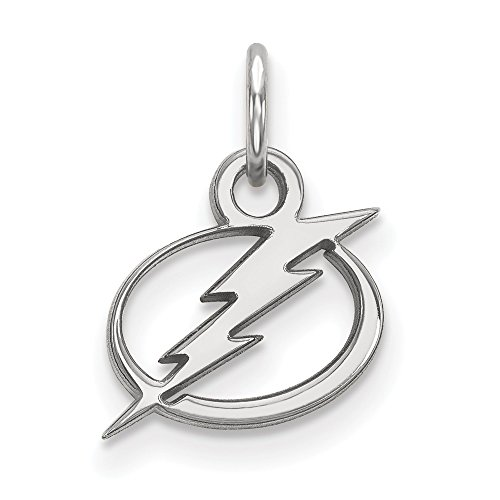 Roy Rose Jewelry 14K White Gold NHL LogoArt Tampa Bay Lightning X-small ()