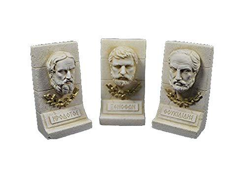 Estia Creations Herodotus Xenophon Thucydides Sculpture Ancient Greek Historians -