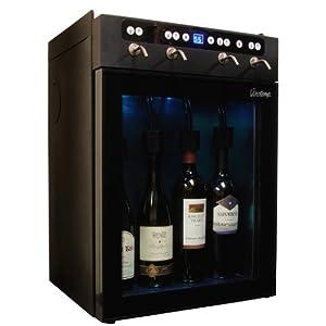 Vinotemp VT-WINEDISP4 4 Bottle Wine Dispenser, Black