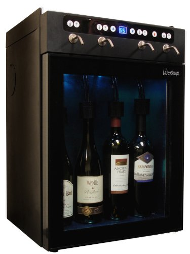 Vinotemp 4-Bottle Wine Dispenser Black VT-WINEDISP4