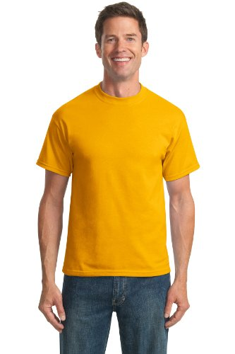 - Port & Company Men's Tall 50/50 Cotton/Poly T Shirts XLT Gold