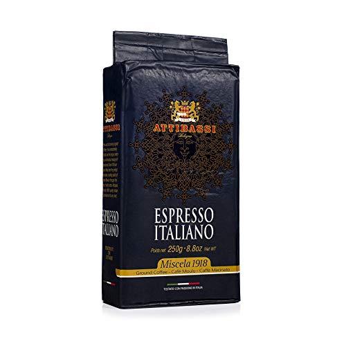 Attibassi Espresso Italiano Medium Roast Premium Ground Coffee 8.8 oz. – Pack of 1