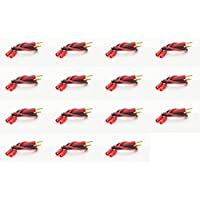 15 x Quantity of Helicopter Quadcopter Airplane Boat Car Controller HXT 3.5MM with Banana Plug Charge Lead Adapter 14AWG 200°C 250mm Wire Power Charger Connector Li-Po LiPo Plugs