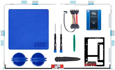 OWC SSD Upgrade Bundle for 2012-2015 iMacs, 500GB 6G SSD, Drive Converter Bracket, in-line Digital Thermal Sensor Cable, Installation Tools
