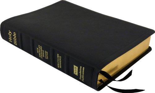 NASB Side-Column Reference Wide Margin Bible; Black Calfskin Leather