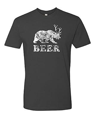 Panoware Men's Beer Bear Deer Funny T-Shirt