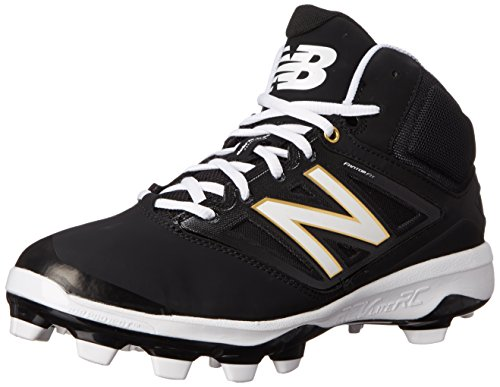 New Balance Men's PM4040V3 Baseball TPU-M, Black/White, 16 D US