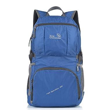 Outlander Large Packable Handy Lightweight Travel Backpack Daypack,Dark Blue