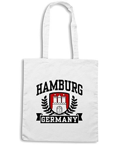 T-Shirtshock - Bolsa para la compra TSTEM0042 hamburg germany white Blanco