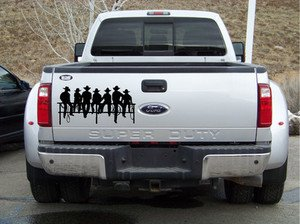 Amazoncom COWBOYS SITTING ON FENCE  AUTO DECAL TRUCK DECAL - Truck decals
