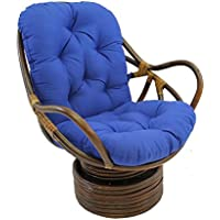 International Caravan 3310-TW-RB-IC Furniture Piece Swivel Rocker with Twill Cushion