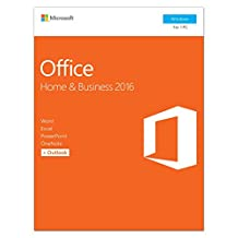 Microsoft Office 2016 Home & Business, Box Pack, 1 License, Medialess