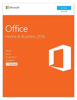 Microsoft Office Home and Business 2016 | 1 user, PC Key