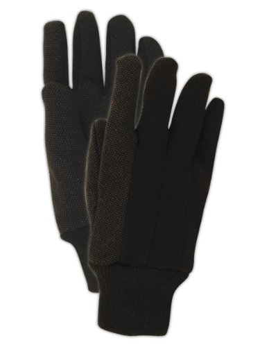 Extra Gloves Jersey Grip (Magid Glove & Safety T92CP Magid MultiMaster T92P PVC Dotted Jersey Gloves, Men's (Fits), Natural Brown, Ladies (Fits Medium) (Pack of 12))