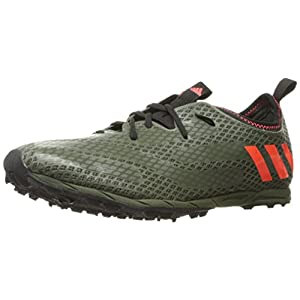 adidas Originals Men's XCS Cross-Country Running Shoe, Base Green/Solar Red/Clear Brown, 11.5 M US