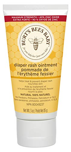 Burt's Bees Baby 100% Natural Diaper Rash Ointment - 3 Ounce (Pack of 1) (Best Natural Baby Cream)