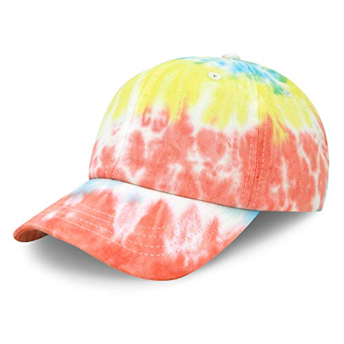 The Hat Depot Unisex Blank Washed Low Profile Cotton & Denim & Tie Dye Dad Hat Baseball Cap