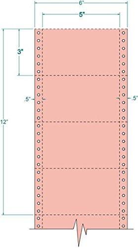 Compulabel 210407サーモン色、1 , 4 , 000にわたって連続ピンフィードインデックスカード、5 x 3