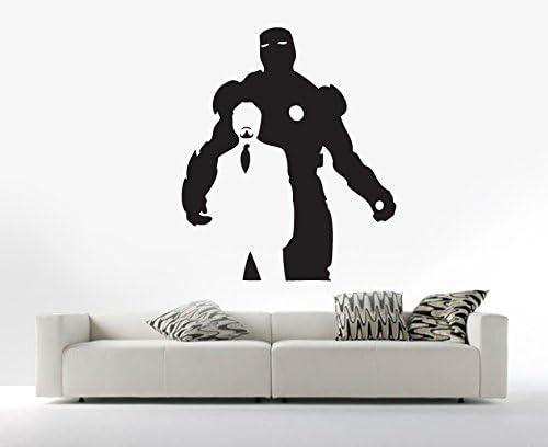Jeune Iron Man Tony Stark Avengers Silhouette Marvel Vinyl Wall Art DA-31