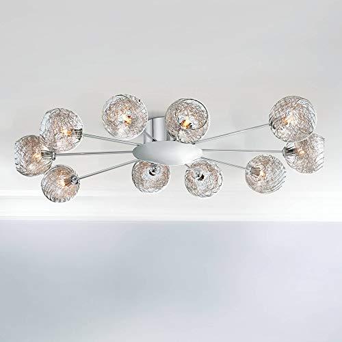 Possini Euro Wire - Wired Modern Ceiling Light Flush Mount Fixture Sputnik Chrome 38