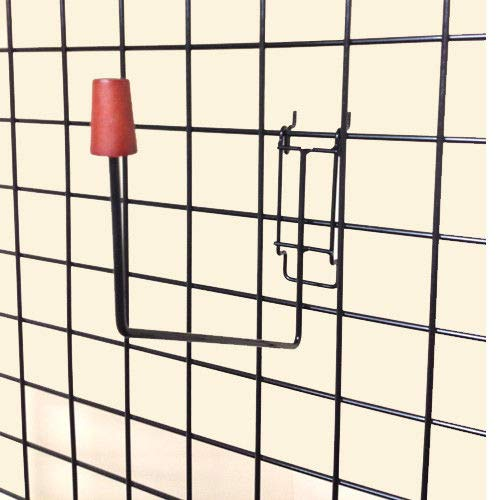 Foam Head Holder for Slatwall, Pegboard & Gridwall, Black, 20 Pack by Store Fixtures Direct (Image #1)